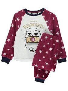 calidad nuevas variedades zapatos para correr Detalles de Niña Harry Potter Hogwarts Búho Pijamas de Forro Polar Set  Infantil