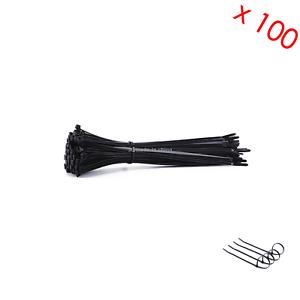 100x Black Nylon Plastic Cable Tie Zip Wraps Ratchet Ties Wire Pack 2.5MM X 100M