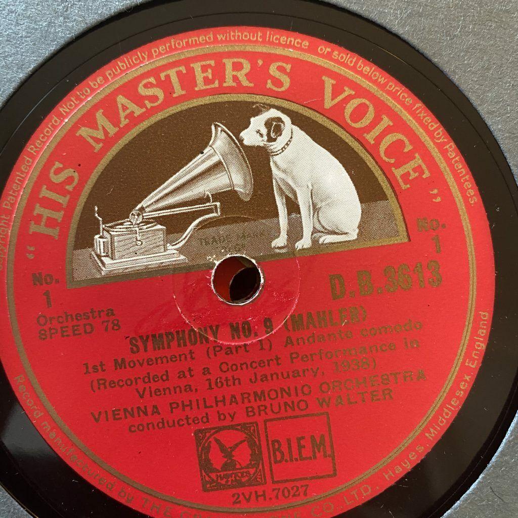 Image 1 - DB 3613/22 Mahler Symphony No. 9 / Walter / VPO 10 x 78 rpm
