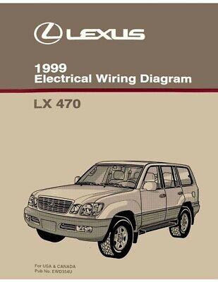 1999 Lexus LX 470 Wiring Diagrams Schematics Layout Factory OEM | eBayeBay