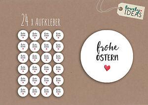 24-x-Geschenkaufkleber-034-Frohe-Ostern-034-40mm-weiss-Etiketten-Aufkleber-Sticker