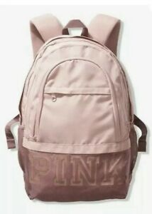 New Victorias Secret PINK Backpack CollegiateChalk Rose Free Shipping