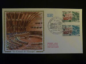 France Premier Jour Fdc N°s73-74 Conseil De L Europe 2,60+1,80f Strasbourg 1982 Luxuriant In Design