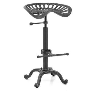 Fine Details About Industrial Bar Stool Swivel Tractor Metal Saddle Chair Height Adjustable 19 25 Short Links Chair Design For Home Short Linksinfo