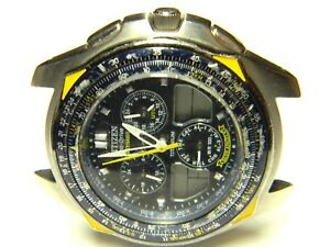 a1e685345cc mens Citizen Skyhawk Eco Drive Blue Angels titanium watch C650 parts ...