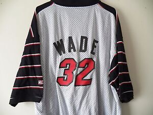lowest price 4d0aa 169f0 Details about RARE #32 Vintage DWYANE WADE MIAMI HEAT Basketball polo  jersey shirt 3X XXXL Men