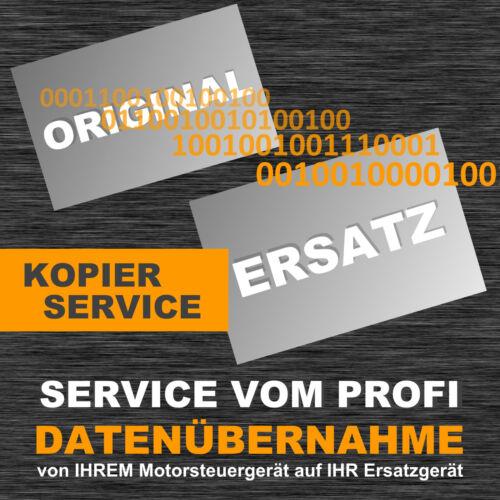 Kopierservice für Opel SIMTEC 71.6 Steuergerät Datentransfer Datenübernahme