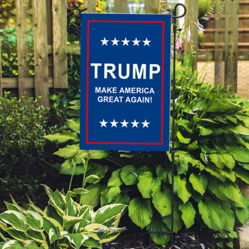 Double Sided Garden Flag Supporting Trump 2020 Outdoor Yard Decoration  US