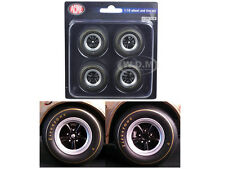 1ST 1967 Z/28 CAMARO RACE WHEELS AND TIRES SET OF 4 1/18 BY ACME A1805703W