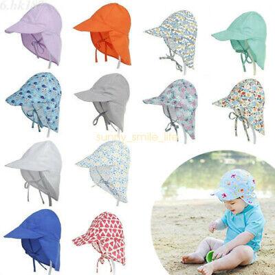 Sun Hat Baby Boys Girls Kids Summer Beach Hat Legionnaire Cap Cotton Outdoor S//L