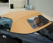 Mazda Miata Convertible Top 2 Piece Zipper & Plastic window 89-05 Tan Cabrio