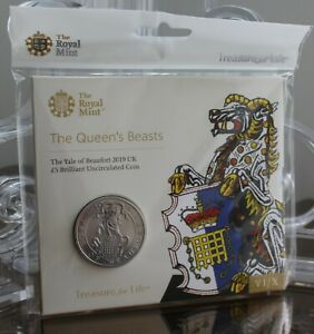 Royal-Mint-2019-Queen-039-s-Beasts-Yale-of-Beaufort-5-UK-BU-Coin-Pack-New-Sealed