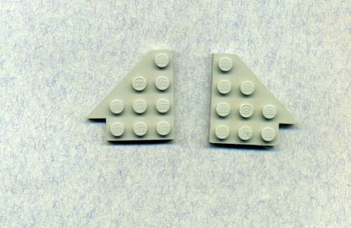 4 x 4 2 Stück Flügel Lego-- 3935//3936 Panel Grau//OldGray