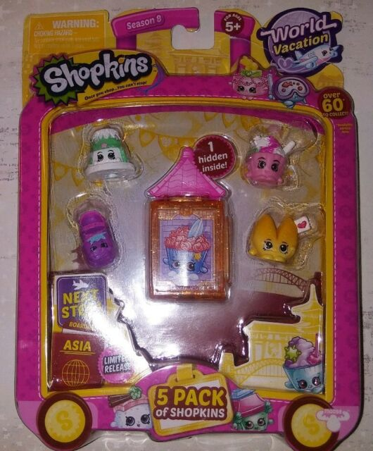 Shopkins World Vacation (Europe) - 5 Pack Collection Season 8 Shown in photo