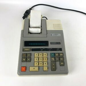 Casio-R-110-Vintage-Printing-Calculator-with-Paper-Tested-amp-Working-RARE