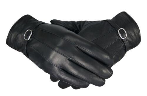 Ladies Womens Warm Fleece Lined Black Winter Soft Real Sheepskin Leather Gloves