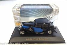 Bugatti Type 57 Galibier 1935 - Black and Blue 1:43 IXO VOITURE DIECAST MUS058