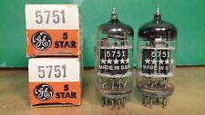 Matched Pair of GE 5-star 5751 Black Plate Triple Mica NOS NIB 1959 Vacuum Tubes