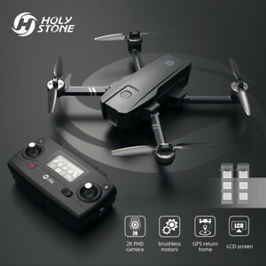 Holy Stone HS720 foldable GPS drone 2K camera 2 Batteries brushless 5G FPV +case