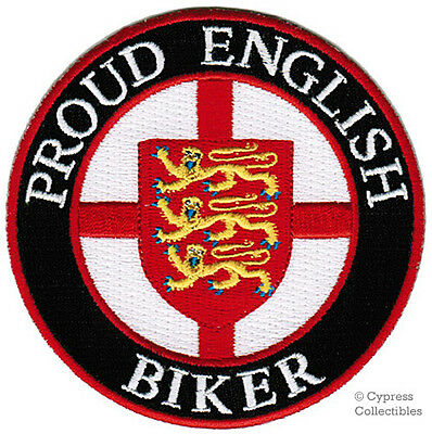 PROUD ENGLISH BIKER embroidered PATCH UK COAT ARMS FLAG ENGLAND St. George NEW