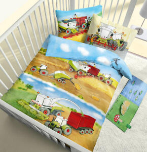 baby bettw sche 100x135 cm claas m hdrescher trecker. Black Bedroom Furniture Sets. Home Design Ideas
