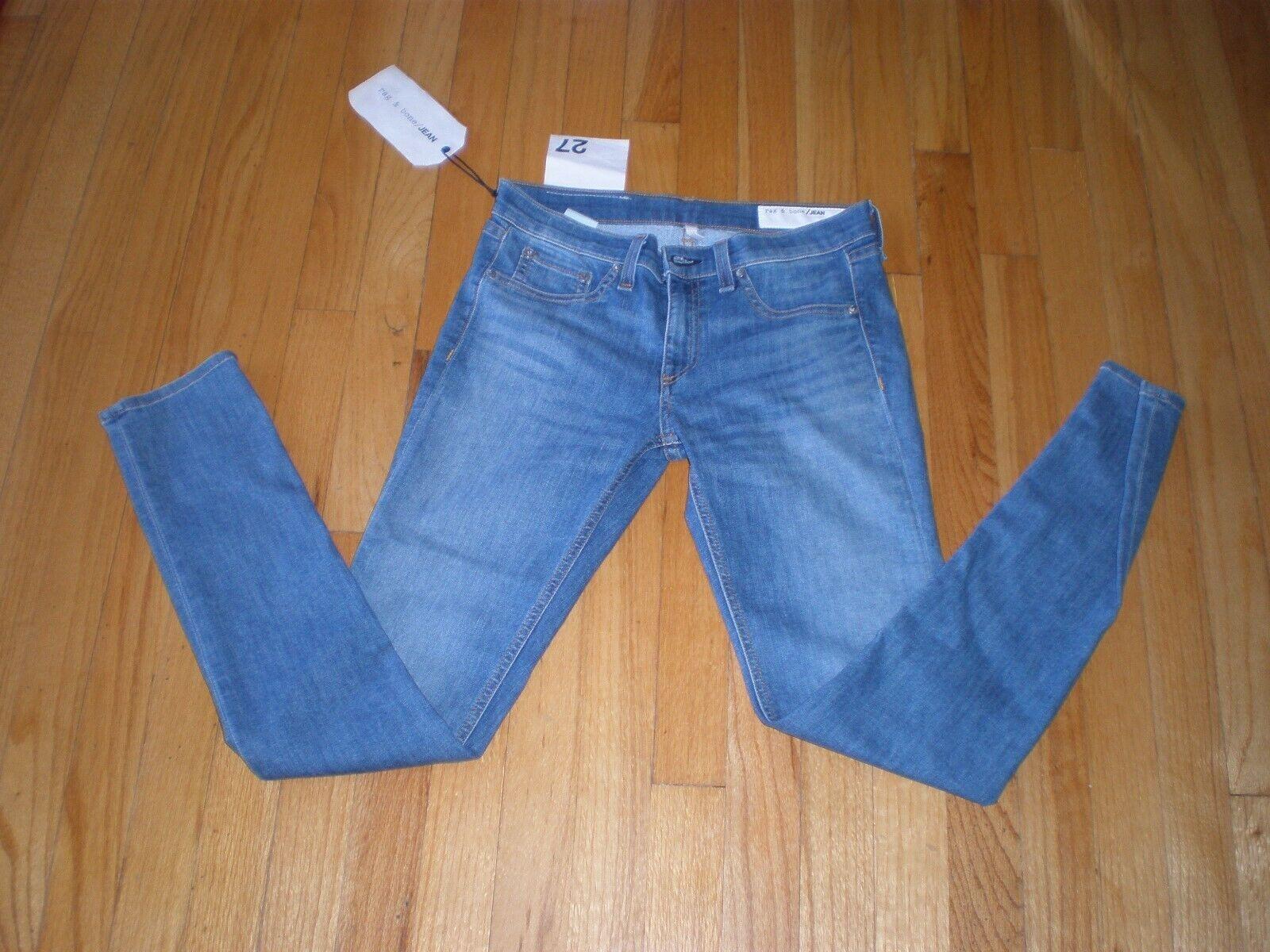 Nouveau Rag & Bone 27 Cheville Jean Skinny Prescott Stretch Bleu Pantalon se vend 225