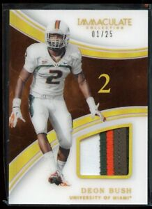 newest 3089e dc412 Details about Deon Bush 2016 Immaculate Collection Acetate Patch Jersey RC  1/25