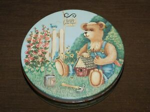 """VINTAGE 6 1/2"""" ACROSS BUMBLE BEARS HOME REPAIR  TIN CAN *EMPTY*"""