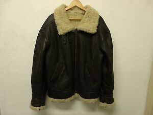 5688d26b1 Details about VTG USAF Jacket Type G-8 Sheepskin Leather Bomber Coat:  Pilots Coat SMALL