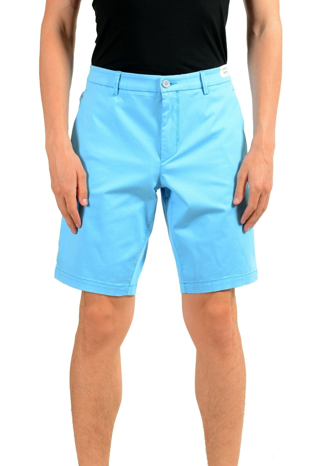 Hugo Boss   Liem4-w     Herren Blau Stretch Enge FREIZEITSHORTS Us M It 50 | Sale
