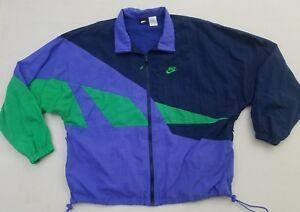 e06245fff7cd Vintage Nike Color Block Windbreaker Jacket Men s Size XL Blue Green ...