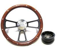 1955 -1956 Chevy Bel Air, Nomad Custom Wood & Billet Steering Wheel - Full Kit