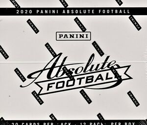 2020-Panini-Absolute-Football-Fat-Packs-sealed-box-12-packs-of-20-NFL-cards