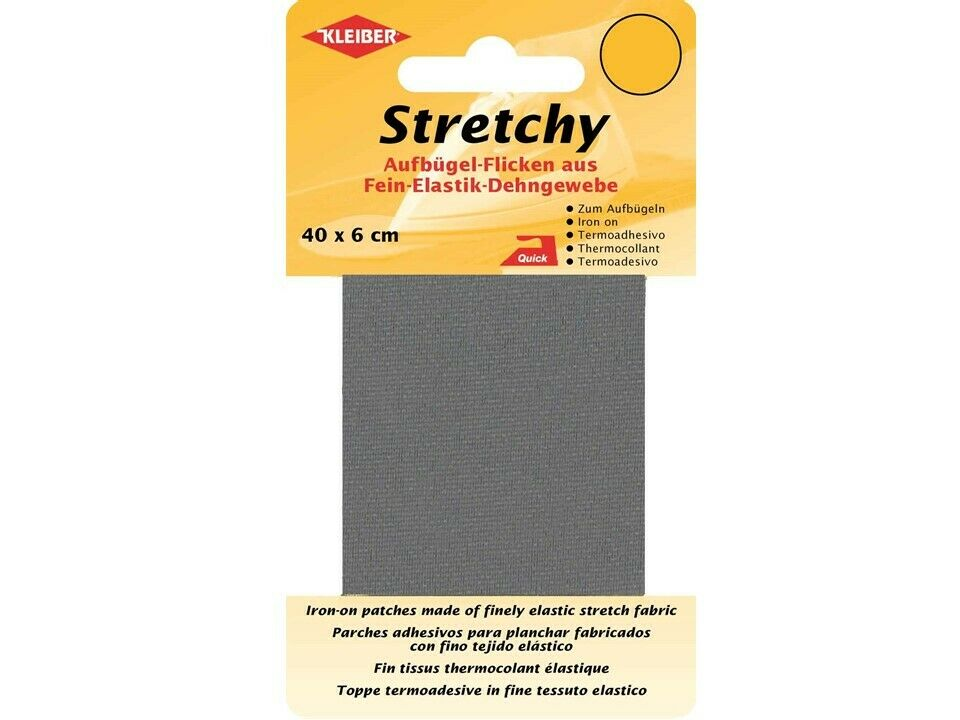 Kleiber Stretchy-Bügel-Flicken 40 x 6 cm weiß