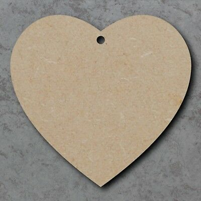 Extra Large 40cm MDF Wooden Heart Craft Shape Trophy Plaque Unpainted