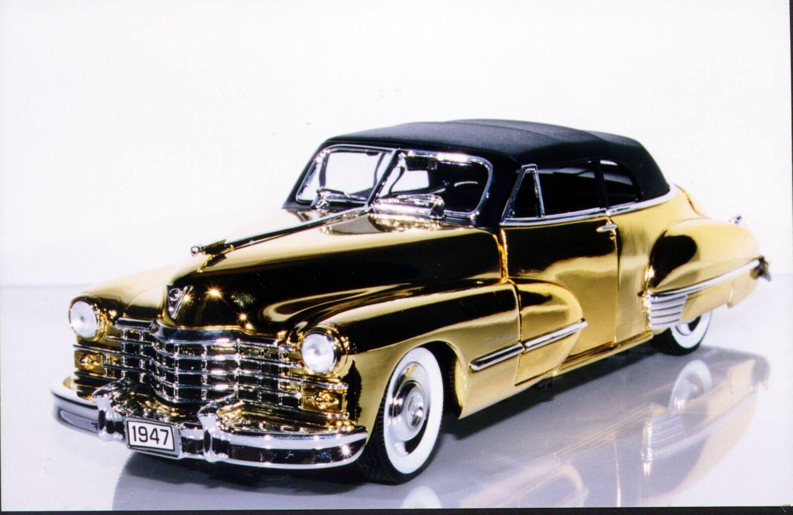 1 18 Cadillac'47 serie 62 ANSON chapado en oro 24k de Star Trek
