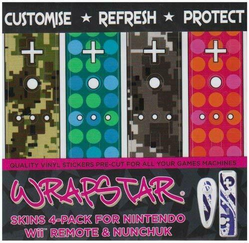 Wrapstar Camo Dots 4 Pack Graphic Skin for Wii Nunchuk and Remote Wii