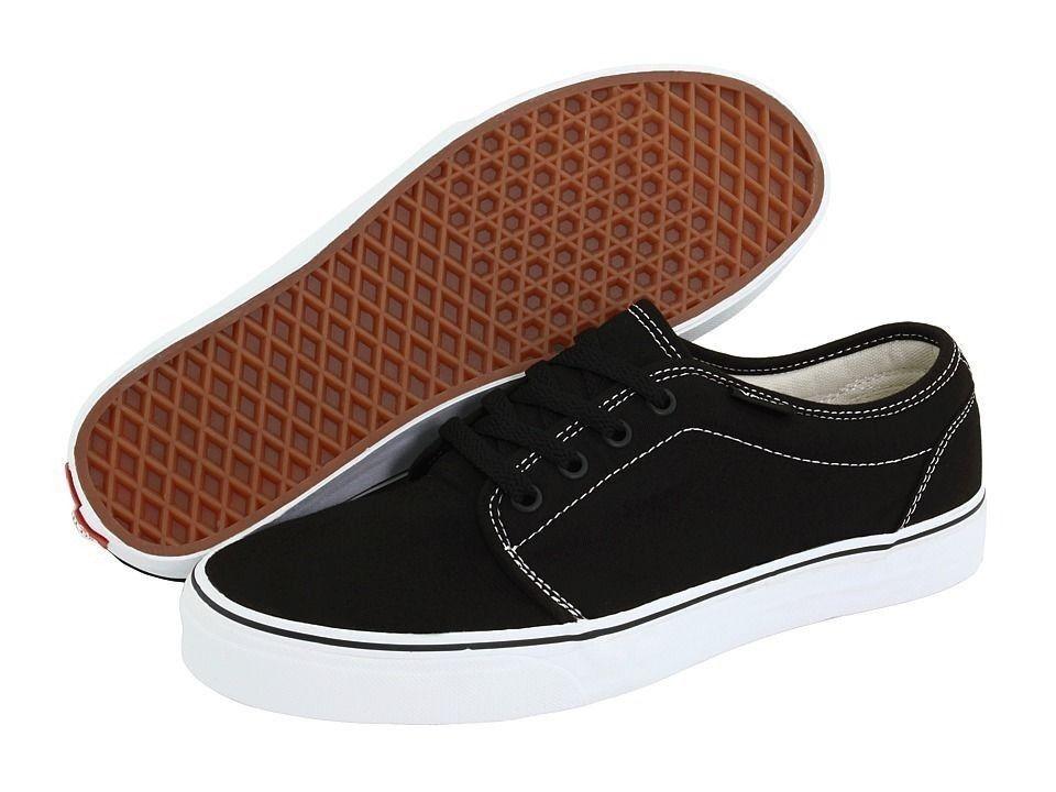 Vans 106 Vulcanized Black White Mens Shoes Sneakers $55