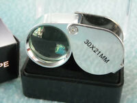 Jewelers Loupe How To Use Tool Jewelry Watch Coins 30x Magnifier Glass Loop