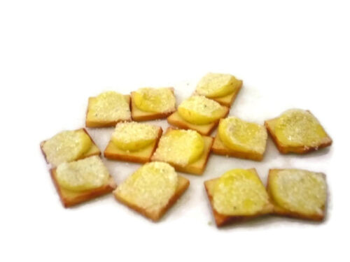 Set f 20 Slices of  Shaped Toast with Icing  Bakery Dollhouse Miniatures Food