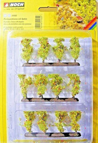 12 pezzi NUOVO Ancora 21532 h0-TT piantagioni di alberi con mele circa 3,5 cm di altezza