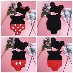 Baby-Boy-Girl-Cartoon-Character-Costume-Outfit-Cosplay-Bodysuit-Romper-Set-Hat