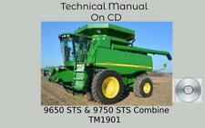 John Deere 9650 Sts Amp 9750 Sts Combine Repair Technical Manual Tm1901