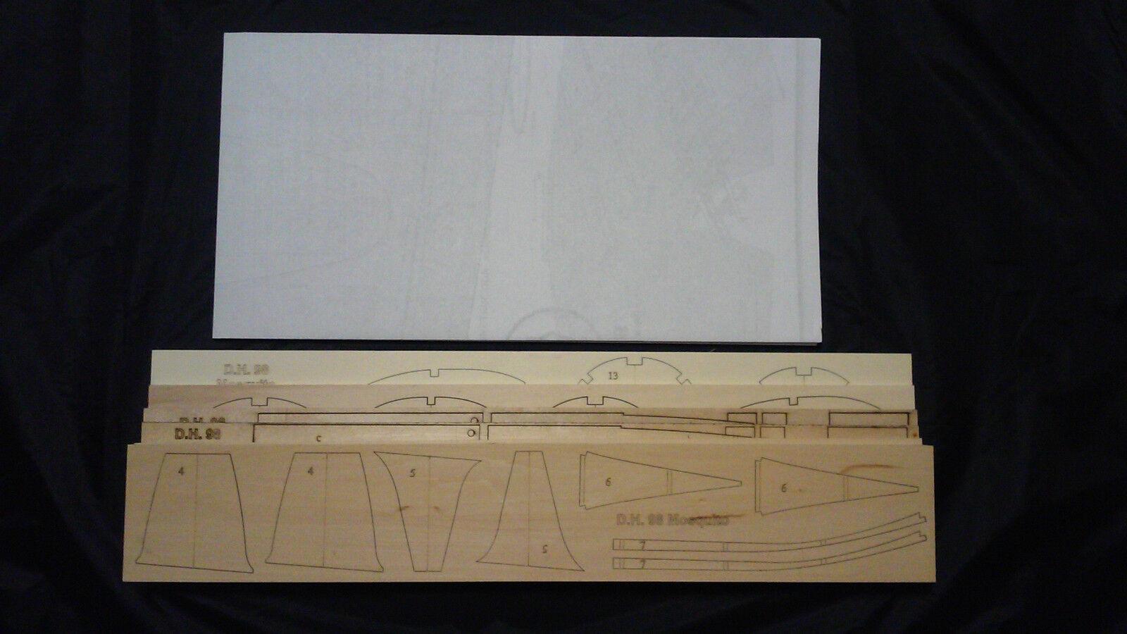 1 8 scale D.H.98 MOSQUITO PR.XVI Laser Cut Short Kit & Plans 81 ws, PLEASE READ
