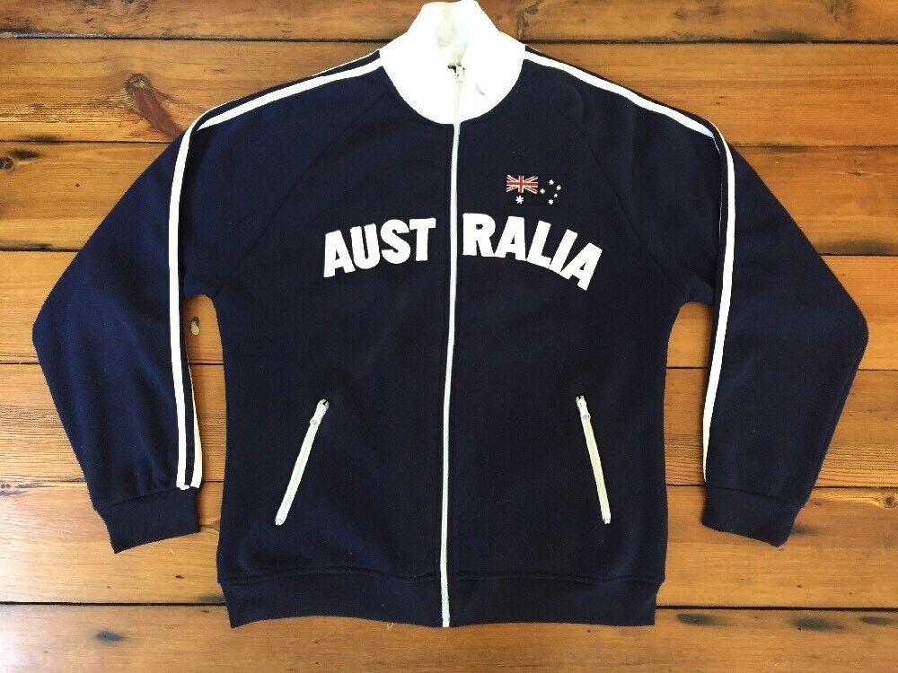 Australia Navy bluee National Flag Patch Long Sleeve Sweatshirt XXL 2XL 46  Chest
