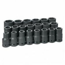 """Grey Pneumatic GRY 9021D 1"""" Dr Deep Fractional Set, 3/4"""" to 2"""", 21 pc"""