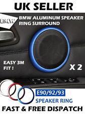 RED BMW E90 E92 3 Series Aluminum Speaker Ring Surround Audio Custom Mod