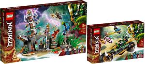 LEGO-Ninjago-71747-Das-Dorf-der-Waechter-71745-Lloyds-Dschungel-Bike-VORVERKAUF