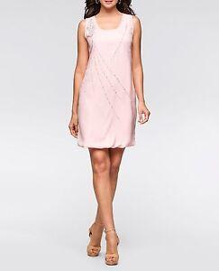 Huebsches-Kleid-mit-Perlenverzierung-in-Altrosa-Gr-42-Q5565-930023