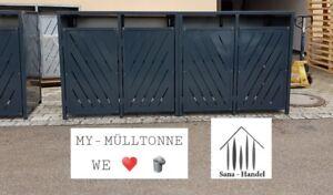 Mülltonnenverkleidung Mülltonnen Box Für 4, 240 Liter Grau Anthrazit Ral 7016 Uj8ozmmi-10115932-967892469
